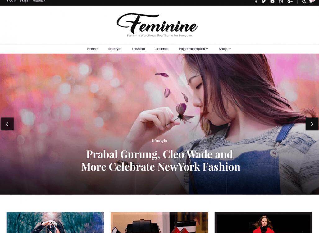 Best Feminine WordPress Theme for Lifestyle Blog