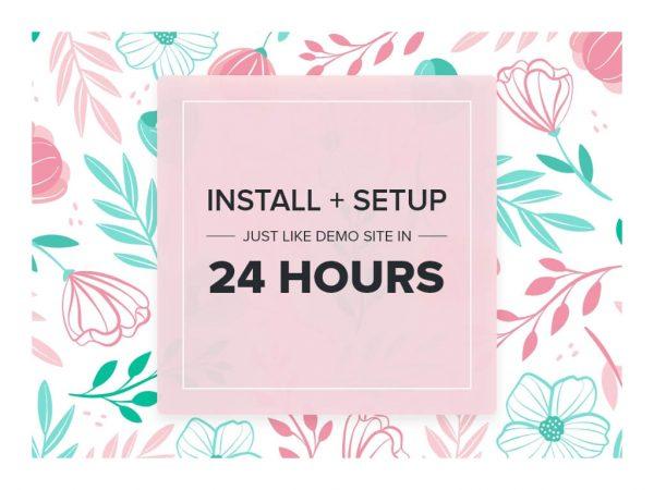 Blossom Theme Installation and Setup