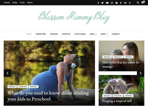 Blossom Mommy Blog Wordpress theme