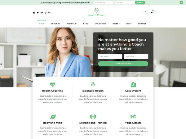 Blossom Health Coach WordPress Theme