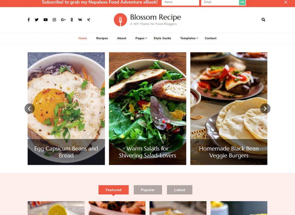 Blossom Recipe Pro WordPress Theme