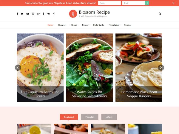 Blossom Recipe Pro WordPress Theme