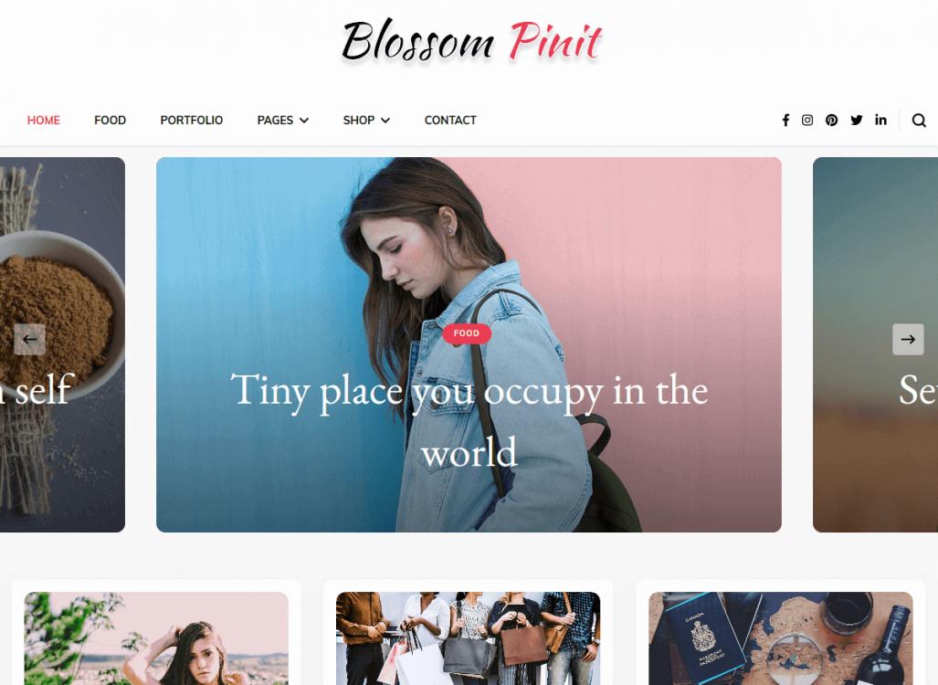 Blossom PinIt WordPress Theme