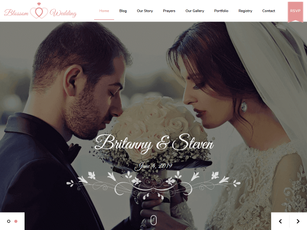 Blossom Wedding Pro WordPress Theme