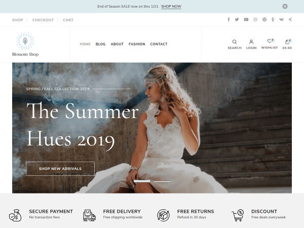 Blossom Shop Pro WordPress Theme