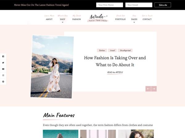 Sarada Lite Free Wordpress Theme