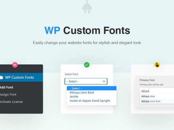 WP Custom Fonts Plugin